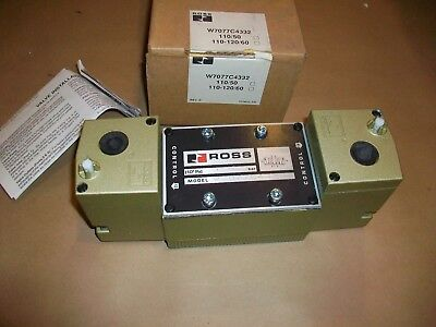 Ross Pneumatic Solenoid Valve W7077C4332   NEW IN BOX