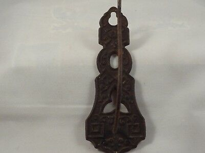 Vintage Victorian wall hook sales receipt bill holder cast iron Eastlake 1872