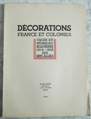 Decorations France Et Colonies - Ed Delande 1934