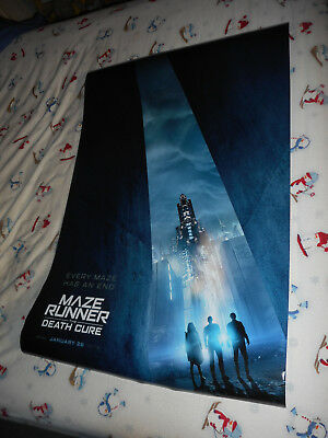 """Dylan O'Brien MAZE RUNNER: THE DEATH CURE orig movie poster DS 27""""x40"""" New 2018"""