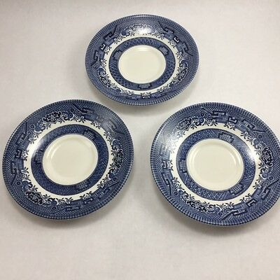 Churchill of England Blue Willow Lot of 3 Saucers 5 1/2 Inch Diameter