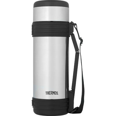 Thermos 34 oz. Vacuum Insulated Stainless Steel Beverage Bottle - Silver/Black