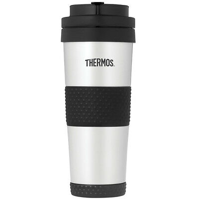 Thermos 18 oz. Insulated Stainless Steel Travel Tumbler Mug - Silver/Black