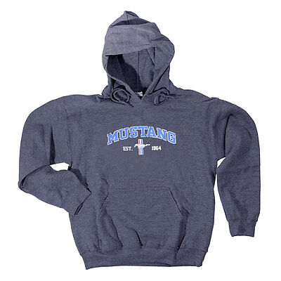 Apparel Hoodie Pull-Over Gray Mustang Est. 1964 Tri-Bar XX-L