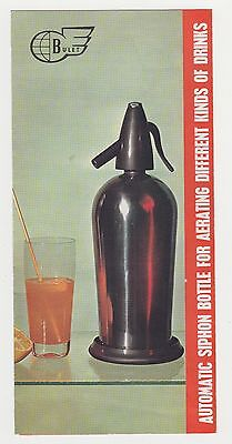 Bulgaria Bulgarian Automatic Soda Siphon Advertising Booklet Brochure 1960s