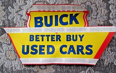 Nos Buick Better Buy Used Cars Dealer Dealership Advertising Sign Sticky Sticker