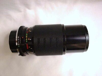 Rokinon Auto Zoom Multi-Coated Macro1:4.5 f=80-200mm ø55 858011 Lens  /Covers NR