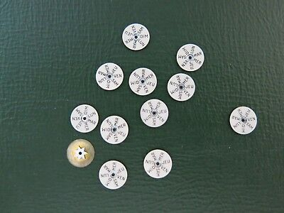 12 x Swiss Valjoux 1940s - 1960s French Triple Calendar Day Disks New Old Stock