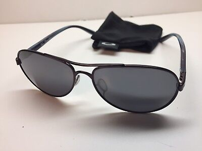 Oakley Tie Breaker Sunglasses 4108-05 Blackberry Frames W/Black Iridium Lens