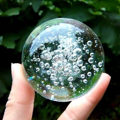 Asian Bubble Pattern Crystal Healing Ball Sphere 30 40 50 80 100 MM Home Decor