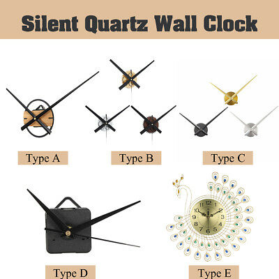 DIY Silent Quartz Wall Clock Movement Hands Mechanism Repair Parts Tool Decor
