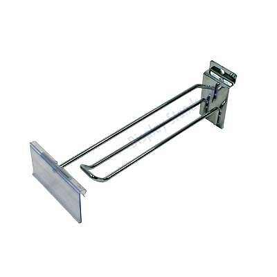 200mm Slatwall Euro Scanning Hook with Ticket Holder Box of 50 (J7BSCAN/EPOS)