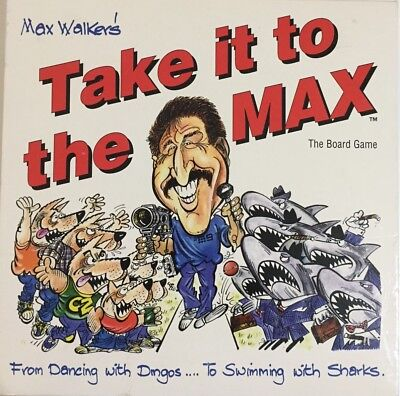 Max Walker's 'Take It To The Max' board game (1994) 100% Complete VINTAGE