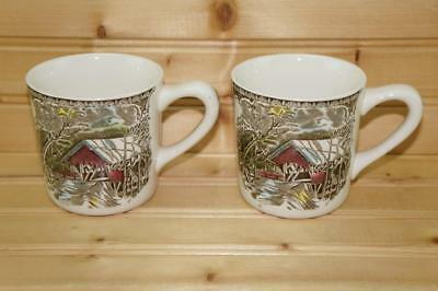 Johnson Brothers FRIENDLY VILLAGE (2) Mugs | Made in England