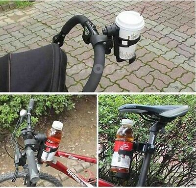 Drink Cup Bottle Holder for Bicycle Baby Stroller Buggy Pushchair Pram New