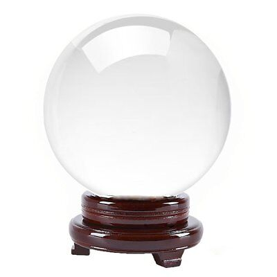 Clear Fortune Telling Toys Crystal Ball Inch 130mm Including Wooden Stand Gift