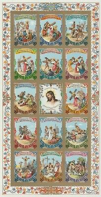 Lesotho 7217 - 1986 EASTER STATIONS of the CROSS - CROMALIN PROOF - UNIQUE