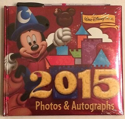 New Disney Parks Walt Disney World 2015 Photo Album Autograph Book with Pen