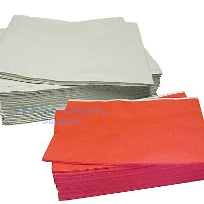 Disposable Paper Party Table Cloth Covers 90x90cm Red or White