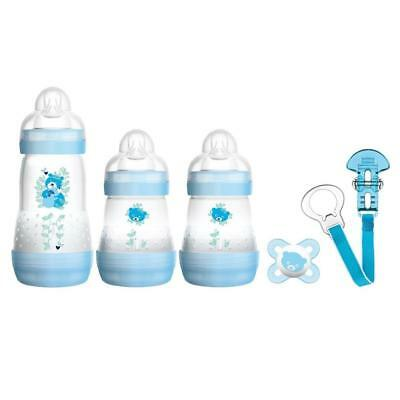 MAM Welcome to the World Set (Blue) Includes Anti-Colic Bottles