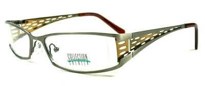 15x Brille Collection Creativ Brillengestell Mod. 1135 Col 110 braun/messing-sil