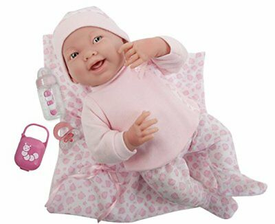 JC Toys 18780 La Newborn Soft Body Boutique Baby Doll, 15.5-Inch, Pink
