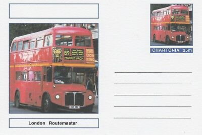 CINDERELLA 7222 - ROUTEMASTER  BUS on Fantasy Postal Stationery card