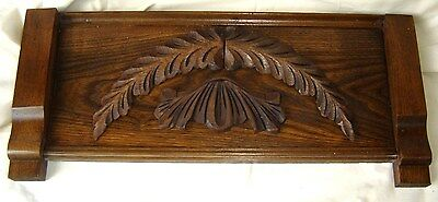 Antique Oak or Chestnut Pediment with Applied Carving. 8402