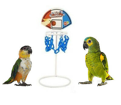 Bird Basketball Metal Parrot Toy Training Game African Grey Amazon Cockatoo 7623