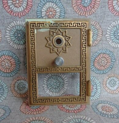 Vintage Brass Post Office Mailbox Door Cover Keyless Lock Co 1965