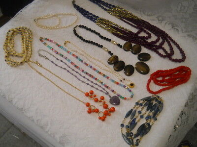 Mixed Lot Of 10  Vtg Retro  Recent Necklaces  Costume Jewelry 3 Avon