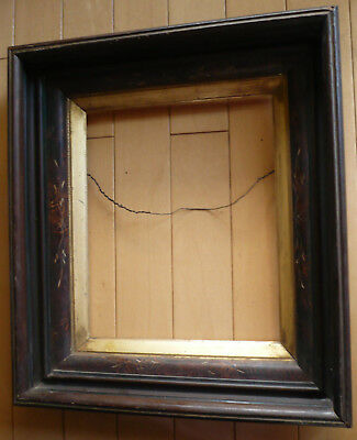 ANTIQUE FRAME 19th CENTURY OLD FRAMING, VICTORIAN EASTLAKE Style w/ GOLD LINER