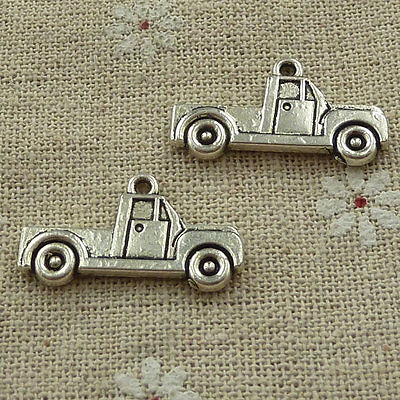 free ship 240 pieces tibetan silver truck charms 26x14mm #3640