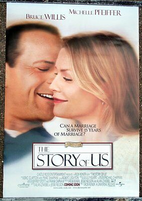 Original Story Of Us Ds One Sheet Movie Poster 99 Bruce Willis Michelle Pfeiffer