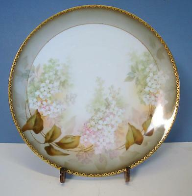 Gorgeous Vintage RS Germany Floral Plate with Gold Reinhold Tillowitz