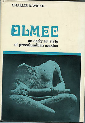 Olmec-Early Art Style Precolumbian Mexico - HC Book, 1971, by; Charles R Wicke