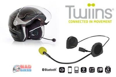 Twiins D2 Motorcycle Scooter Hands Free Bluetooth Communication System