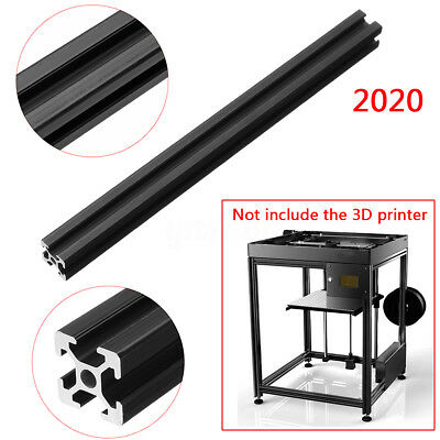 2020 T-Slot Extrusion Aluminum Profiles Frame DIY Black For 3D Printer 250-600mm
