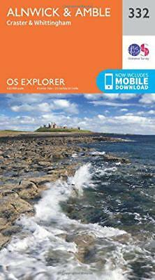 OS Explorer Map (332) Alnwick and Amble, Craster and Whittingham by Ordnance Sur
