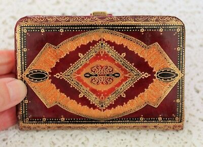 Vintage Gold Embossed Leather Purse - Beautifully Embossed On Both Sides