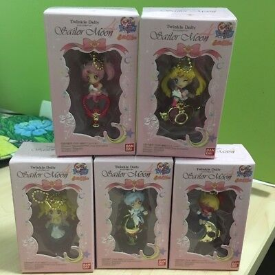 5pcs/set Anime Sailor Moon Guardian Chibi Keychain Twinkle Dolly Toy Pendant NIB