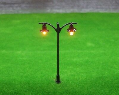S305 - Set of 10 Pieces Street Lamps Nostalgic 2 Flame 5,7CM NEW
