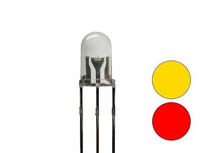 S683 - 20 Piece Duo leds 5mm Bi-Color Yellow Red 3-Pin Light Changing
