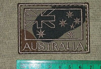 Anf Flag Patch Australian Army Subdued Tan On Camo Coloured #3
