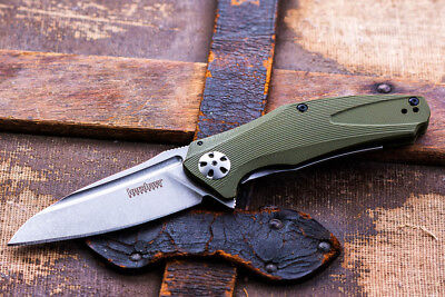 Kershaw Natrix Green Assisted opening folding pocket knife  Wharncliffe blade