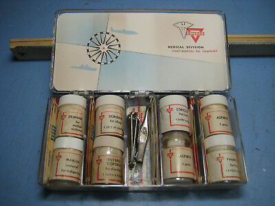 Rare 1960s Conoco Gas Station Premium, Medicine & First Aid for the Traveler Kit