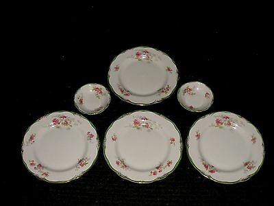 RARE! Set Lot 6 Royal WOOD AND SONS semi-porcelain Dinner Plates and Fruit Bowls