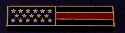 THIN RED LINE US Flag GOLD Uniform Award/Commendation Bar Pin firefighter/dept