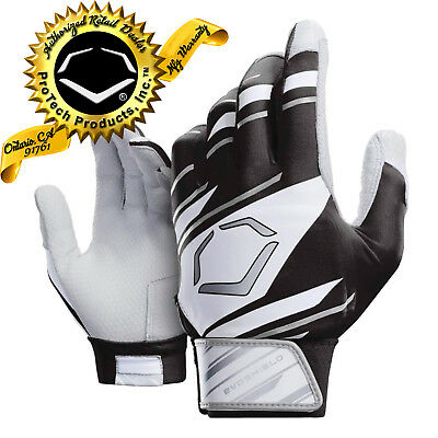 EvoShield Speed Stripe YOUTH SPEED STRIPE GEL TO SHELL Batting Gloves BLK/WH/GRY