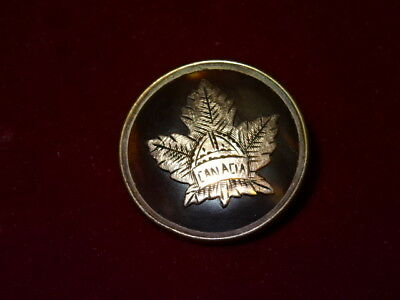 Collectable 9ct Rose Gold Maple Leaf WW1 Sweetheart Brooch/Badge - Canada
